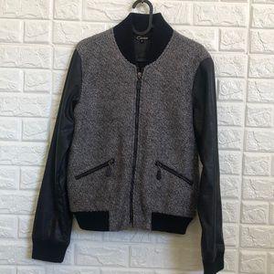 Cecico varsity style bomber jacket 30% wool